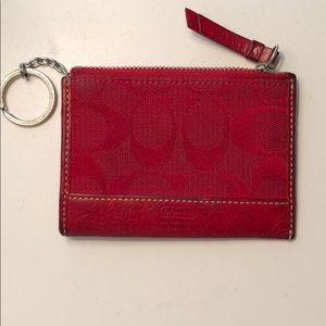 Coach small coin wallet
